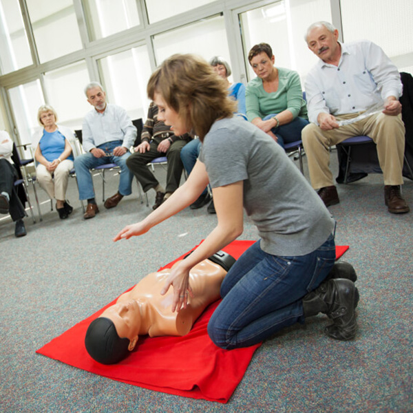 CPR classroom demonstration