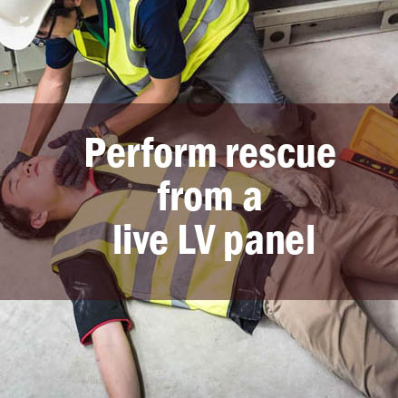 Perform rescue from a live LV panel